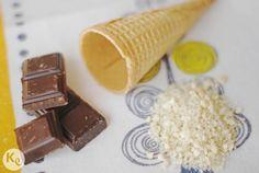 Chocolate ice cream cones #eat #summer