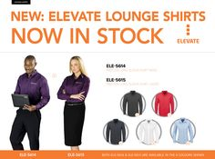 New ELEVATE Lounge Shirts Our Elevate collection has been extremely well received since our launch. We're excited to launch our new Pre.