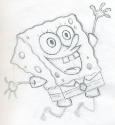 pictures to draw | How To Draw Spongebob