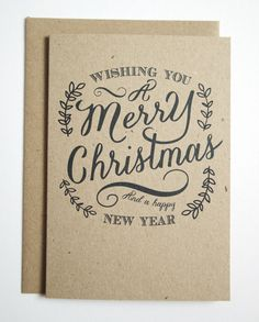Rustic Christmas Eco Recycled Kraft Christmas by STNstationery
