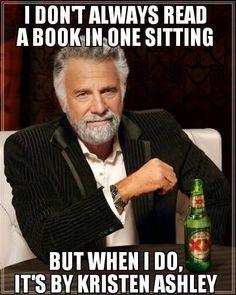 Read book one sitting Kristen Ashley