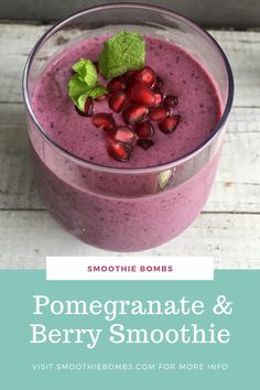 Nutritionally boosted with a Super Berries Smoothie Bomb