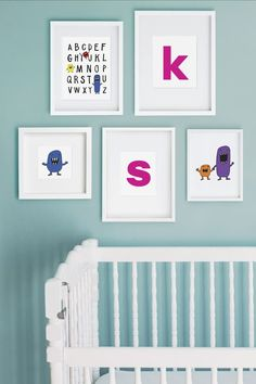 Decorate your nursery or children's room with over 40 pieces of free printable art from HP. Mix and match woodland monster caricatures with alphabet letters (in 3 colors) to create a gallery wall. Or hang an inspiring quote on its own. Just print out on your HP printer & frame! Free Printable Artwork, Free Printables, Hp Printer, Gallery Wall, Nursery, Alphabet Letters, Caricatures, Ava, Classroom Ideas