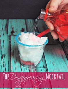 The Disappearing Mocktail – Magical Cotton Candy Drink Recipes – a fun drink for children The TipToe Fairy Informations About The Disappearing Mocktail – Magical Cotton Candy Drink … Party Drinks Alcohol, Fruit Drinks, Drinks Alcohol Recipes, Yummy Drinks, Drink Recipes, Yummy Food, Delicious Recipes, Beverages, Party Recipes