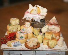 "Dollhouse e miniature handmade ""Italian Cheese "" scale 1/12"