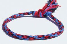 Ladybug pattern friendship kumihimo bracelet