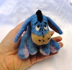 Sad Donkey Character Needle Felted Wool Air Freshener. $29.95, via Etsy.