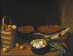 Still Life with Fish, Fruit and Eggs by G. V. R.