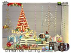 The Sims Resource: Christmas morning clutters by Jom Sims • Sims 4 Downloads