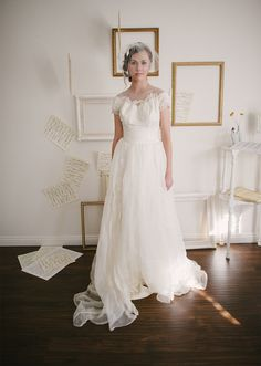 Vintage+1950s+Wedding+Dress+by+Priscilla+of+by+SwoonShopVintage,+$564.00