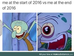 2016 has been chaos squidward meme, spongebob memes clean, funny quotes, funny memes Spongebob Memes Clean, Squidward Meme, Funny Laugh, Funny Jokes, Hilarious, Best Funny Pictures, Funny Pics, Funny Stuff, Funny Things