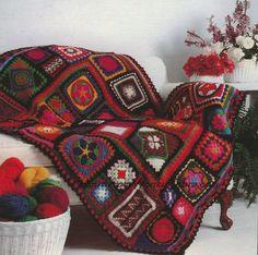 Crochet Blanket Pattern 195 PDF Afghan Granny Blanket plus BONUS Tutorial from WonkyZebra