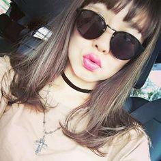切りっぱなしロブ💜薄めのぱつっと前髪にハイライトをたっぷり💜 セミウェットにスタイリング🙌 Hair&make Welina Hitomiyanagida