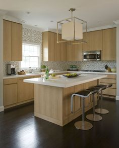 Kitchen design by Willey Design LLC   featuring the Caged Lantern with Paper Shade