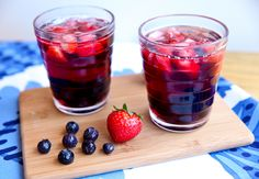 It's my birthday…have a drink on me! Cheers everyone! Midnight Sun Sangria 4 small strawberries 2 Tablespoons blueberries 1/4 cup lingonberry juice (available at Ikea, can substitute cranberry) 1/2 cup red wine Combine berries, juice and wine and serve over ice. Serves 1. My sister is in town and we just might look like this [...]