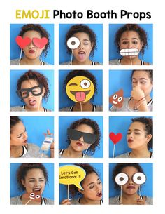 Emoji Party Photo Booth Props for your Emoji Party. Your guests will have a blast taking pictures with these cute Emoji Props. (Cool Crafts For Sleepovers) Emoji Theme Party, Party Themes, Party Ideas, Emoji Photo Booth, Photos Booth, Props For Photo Booth, 13th Birthday Parties, 10th Birthday, Birthday Ideas