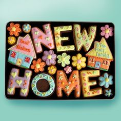 Large NEW HOME Gift Tin