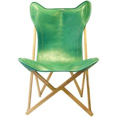 Dario Alfonsi Green Leather Tripolina Chair (109.410 RUB) ❤ liked on Polyvore featuring home, furniture, chairs, green, faux chair, leather chair, green furniture, hand made furniture and faux leather furniture