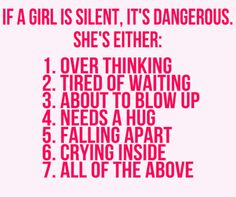 silence is louder then words