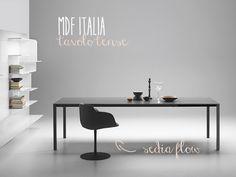 MDF italia #tavolo tense e# sedia flow nero