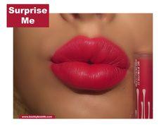 Kylie Velvet Liquid Lipstick in Surprise Me Swatch. Click pic for full post