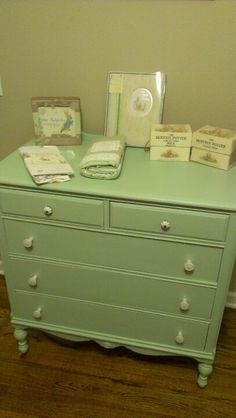 Refinished dresser.  Love the lines and the height.