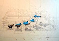 好美!!! 蝴蝶飛起的過程很數學!!藝術家 Rafael Araujo 的 費波那西數列Successione di Fibonacci - A-MOre聯想貼A-MOre聯想貼