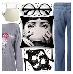 """""""Eclectic breakfast style: Good morning my dear, Let me get my milk and my heels"""" by pastelneon ❤ liked on Polyvore"""