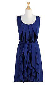 Ruffle cascade dress