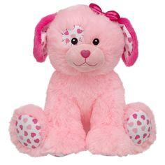 New Precious Pink Patchwork Hearts Puppy Dog Build a Bear Fluffy Unstuffed Toy Teddy Bear Cartoon, Cute Teddy Bears, Patchwork Heart, Teddy Bear Pictures, Bear Art, Build A Bear, Pink Dog, Childhood Toys, Classic Toys