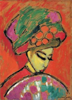 Alexej von Jawlensky,Young Girl With a Flowered Hat, 1910