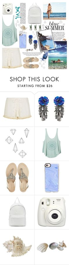 """""""Beach vibes"""" by nele-eggersmann ❤ liked on Polyvore featuring Le Specs, Seafolly, Forest of Chintz, Umbra, RVCA, Kershaw, Antik Batik, Casetify, Joshua's and Fujifilm"""