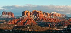 Sedona Photograph - Cathedral Rocks Vista by Jim Chamberlain