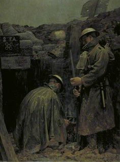 'Humanity' Bearer Post, Cambrin Sector, August 1916: The First Field Ambulance, by Gilbert Rogers, 1916.