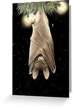 """African Christmas: Bat"" Greeting Cards & Postcards by Danelle Malan"