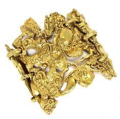 CHRISTIAN LACROIX , gold-tone cuff bracelet , circa 1980's