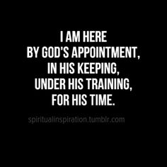 Here by God's appointment