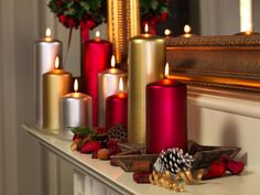 Mantle Decoration with traditional candles