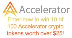 Enter now to win 10 Accelerator crypto tokens worth over $25! #ACC #Accelerator_Net #cryptocurrency #Crypto #CryptocurrencyNews #Altcoins #altcoinexchange