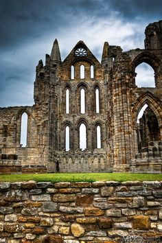 Whitby Abbey - cathedral ruins by *Yupa Whitby England, Yorkshire England, North Yorkshire, Whitby Abbey, Castle Ruins, Old Churches, Seaside Towns, Kirchen, Lake District