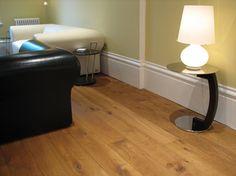 Image result for oak floor white skirting