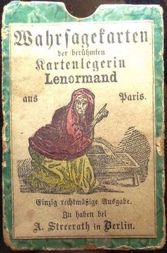 1870 Lenormand Deck (Box Cover)