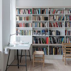 Like the wall length book case
