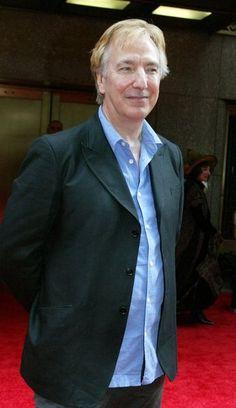 """Dᴏɴ'ᴛ. Lɪᴇ. Tᴏ ᴍᴇ."", karthaeuser65:    Alan Rickman walks the red..."