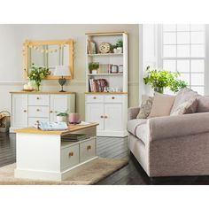 Winchester Bookcase Display Unit - Soft White and Oak at Homebase -- Be inspired and make your house a home. Buy now.