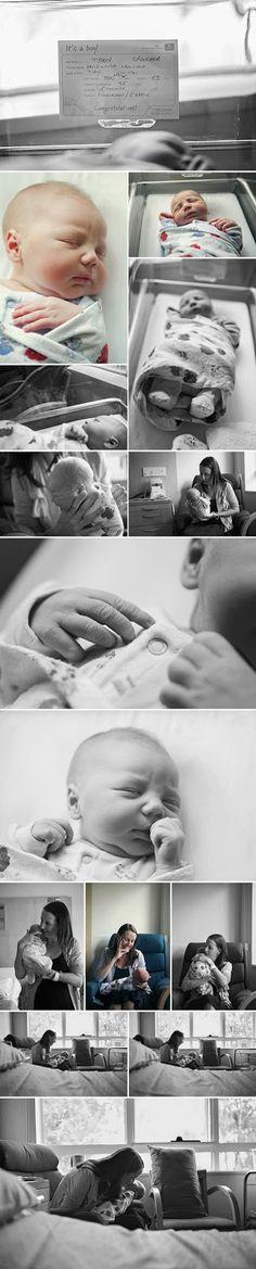 Esses tempos, fiz um post no qual eu relacionava algumas cenas que não poderiam deixar de ser registradas na hora H, ou seja, na hora do parto: equipe médica reunida antes do baby chegar, nascimento do bebê, mãe com o bebê, relógio marcando a hora do nascimento, pezinho sujo de tinta e por aí afor