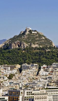 The Lycabettus Hill, Athens, Greece Regions Of Europe, Picture Places, Historical Monuments, Parthenon, Southern Europe, Athens Greece, South Of France, Macedonia, Greece Travel