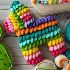 Fiesta themed. #sugarbellesweets #customcookies #cctx #fiestacookies Mexican Themed Cakes, Mexican Cakes, Birthday Parties, Birthday Cake, Custom Cookies, Cake Cookies, Sweets, Baby Shower, Party