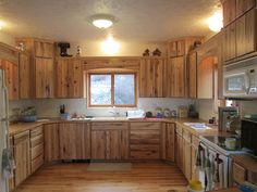 Rustic Hickory Kitchen Cabinets | another one of our awesome custom kitchens a wonderful hickory kitchen ...