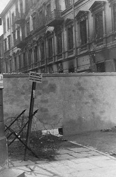 a hole used for smuggling The Warsaw Ghetto http://www.HolocaustResearchProject.org